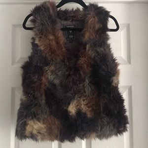 Guess brand faux fur vest